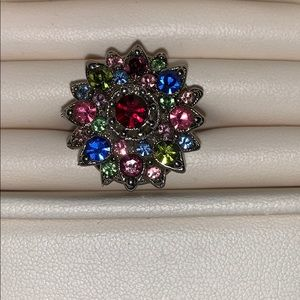 Adjustable bejeweled ring